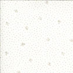 Dover - Little Floral Linen White - 1 Cut FQ