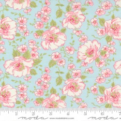 Grace - Main Floral Duck Egg - PRE-ORDER DUE SEPTEMBER