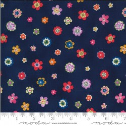 Lulu - Flowers Navy