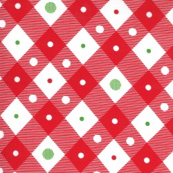 Merry And Bright - Plaid Poinsettia Red