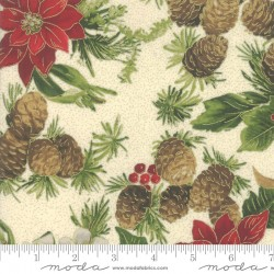 Poinsettias And Pine - Poinsettias Pine Cream - PRE-ORDER DUE JULY