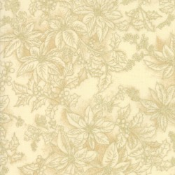 Poinsettias And Pine - Poinsettia Outlines Cream - PRE-ORDER DUE JULY