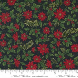 Sparkle And Shine Glitter - Garland Poinsettia Black - PRE-ORDER DUE AUGUST