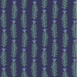Camont by Rifle Paper Co - Floral Stripe Metallic Navy - PRE-ORDER DUE NOVEMBER/DECEMBER