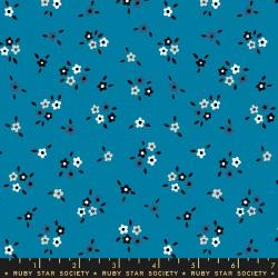 Ruby Star Society - Liana - Calico Bright Blue - PRE-ORDER DUE APRIL
