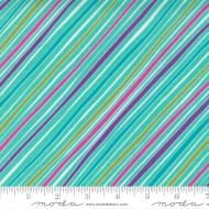 Petal Power - Bias Stripe Awesome Aqua - PRE-ORDER DUE NOVEMBER