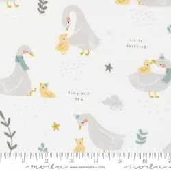 Little Ducklings - Bundle of 5 Fat Quarters in White - PRE-ORDER DUE JUNE