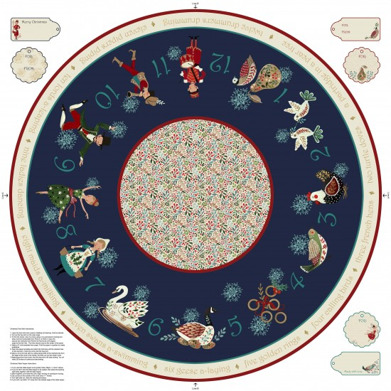 12 Days Of Christmas - Tree Skirt Panel