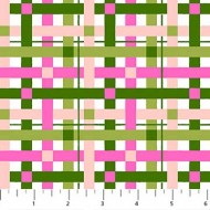 Rolling Pin - Pink And Green Plaid