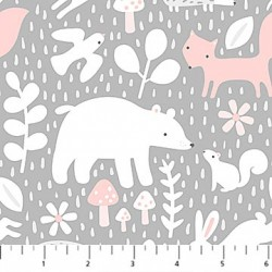Hello Little One - Animals On Grey And Pink