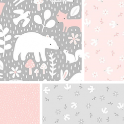 Hello Little One - Fat Quarter Bundle Pink