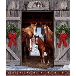 Hay... It's Christmas - Horse Panel - PRE-ORDER DUE JULY