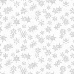Winter Frost - Large Snowflakes White Silver - PRE-ORDER DUE JULY