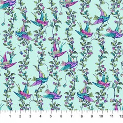 Stag and Thistle - All A Flutter Turquoise
