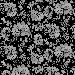 Misty Morning - Watercolor Paisley Black Gray - PRE-ORDER DUE MARCH
