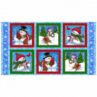 Frosty Friends - Snowman Picture Patches Panel - PRE ORDER DUE JUNE