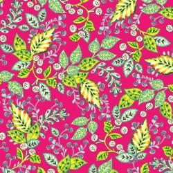 Evelyn - Leaf Vine Pink