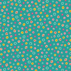 Evelyn - Tiny Floral Teal - PRE-ORDER DUE JANUARY