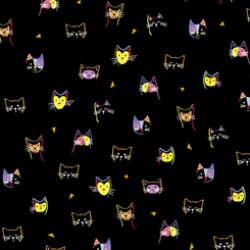 Kitty Cats - Kitty Cat Heads Black - PRE-ORDER DUE OCTOBER