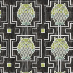 Nocturne - Owls Trellis Graphite - PRE ORDER DUE FEBRUARY