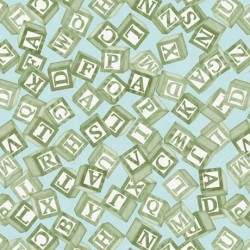 Toyland - Tossed Blocks Light Aqua