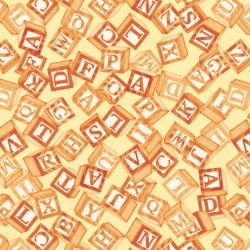 Toyland - Tossed Blocks Yellow
