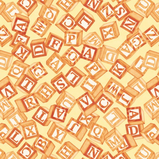 Toyland - Tossed Blocks Yellow