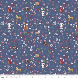 Enchanted Meadow - Forest Friends Denim - PRE-ORDER DUE FEBRUARY