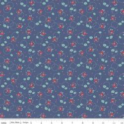 Enchanted Meadow - Bouquets Denim - PRE-ORDER DUE FEBRUARY