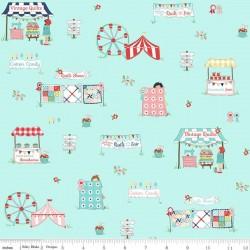 Quilt Fair by Tasha Noel - Main Aqua - PRE-ORDER DUE DECEMBER/JANUARY