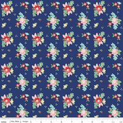 Quilt Fair by Tasha Noel - Floral Navy - PRE-ORDER DUE DECEMBER/JANUARY