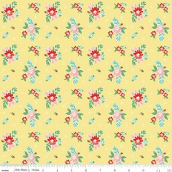 Quilt Fair by Tasha Noel - Floral Yellow - PRE-ORDER DUE DECEMBER/JANUARY