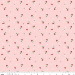 Quilt Fair by Tasha Noel - Strawberries Pink - PRE-ORDER DUE DECEMBER/JANUARY