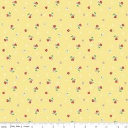 Quilt Fair by Tasha Noel - Strawberries Yellow - PRE-ORDER DUE DECEMBER/JANUARY