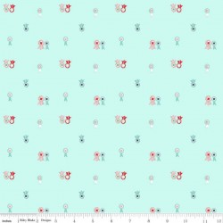 Quilt Fair by Tasha Noel - Ribbons Aqua - PRE-ORDER DUE DECEMBER/JANUARY