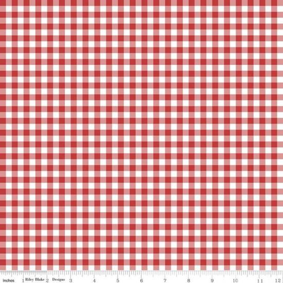 Quilt Fair by Tasha Noel - Gingham Red - PRE-ORDER DUE DECEMBER/JANUARY