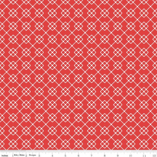 Quilt Fair by Tasha Noel - Quilty Chain Red - PRE-ORDER DUE DECEMBER/JANUARY