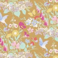 Gardenlife by Tilda - Bird Floral Mustard - PRE-ORDER DUE MAY