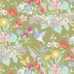 Gardenlife by Tilda - Bird Floral Green - PRE-ORDER DUE MAY