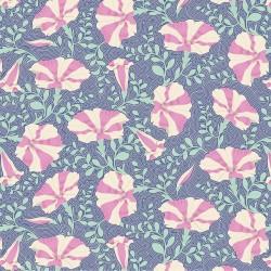Gardenlife by Tilda - Striped Petunia Blue - 1 Cut FQ