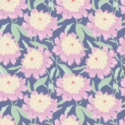 Gardenlife by Tilda - Bowl Peony Blue - 1 Cut FQ