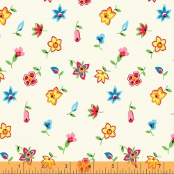 Five And Ten - Floral Toss Ivory - PRE-ORDER DUE MAY