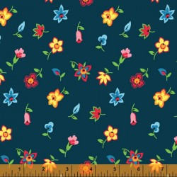 Five And Ten - Floral Toss Navy - PRE-ORDER DUE MAY