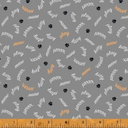 Mod Cat - Play Words Grey - PRE-ORDER DUE MAY