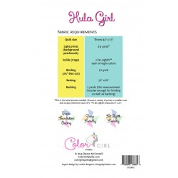Color Girl - Hula Girl Quilt Pattern