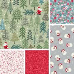 Christmas Trees - Fat Quarter Bundle - PRE ORDER DUE JUNE