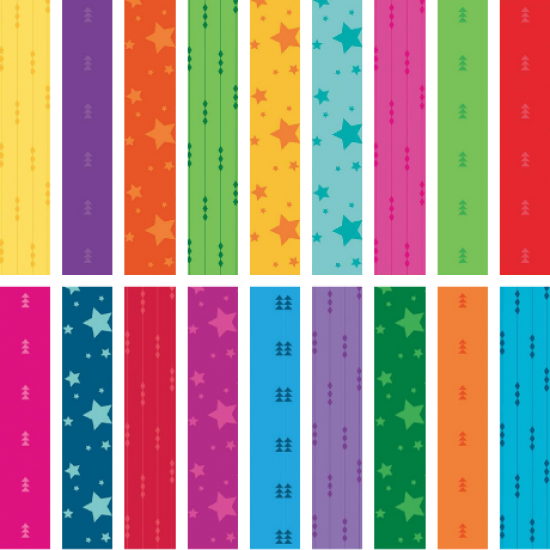Create - *Fairy Lights, Fly Right and Starlight Fat Quarter Bundle* 18 Fat Quarters, 1 Fat Quarter Free