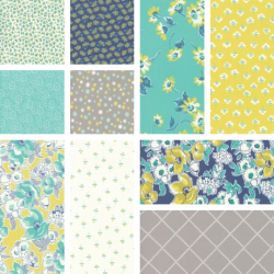 Flour Garden - Bundle of 10 Fat Quarters (3) - 1 FQ free!