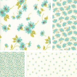 Flour Garden - Bundle of 4 Fat Quarters - Feather