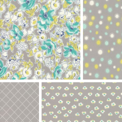 Flour Garden - Bundle of 4 Fat Quarters - Geode
